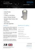 CL-SERIES Underwater LED Lights for Military Submarine Applications