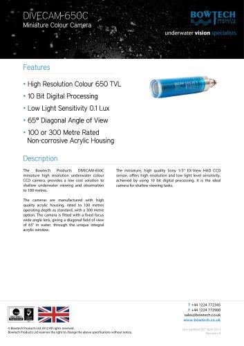 DIVECAM-650C Miniature Colour Camera