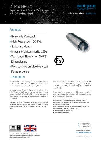 DTR-65-HR-EX Compact Explosion Proof Colour TV Camera