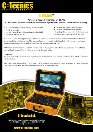 c-vision-subsea-video-system