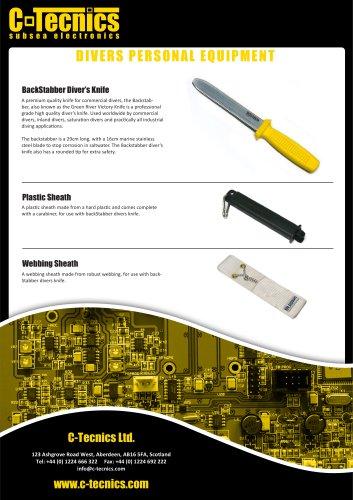 DIVERS KNIFE PLASTIC SHEATH
