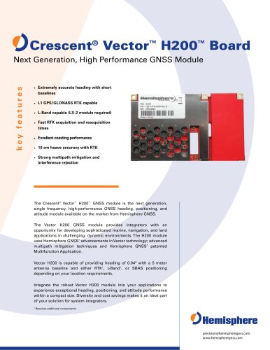 CRESCENT VECTOR H200? BOARD