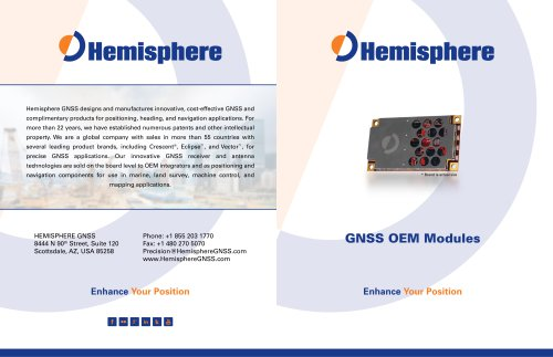 GNSS OEM Modules Brochure