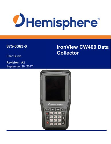 IRONVIEW CW400 DATA COLLECTOR