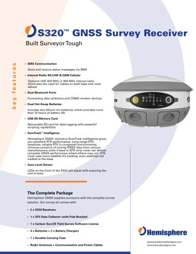 S320? GNSS SURVEY RECEIVER