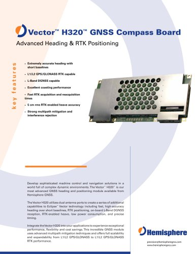 VECTOR H320? GNSS COMPASS BOARD