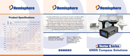 Vector Series GNSS Compass Solutions Brochure