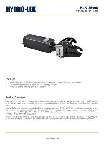 HLK-25000 - Continuous Jaw Rotate Actuator