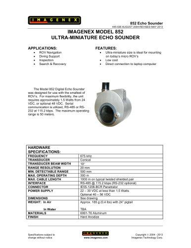 852 Echo Sounder