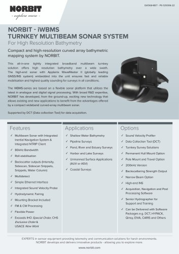 integrated wideband multibeam sonar - iWBMS