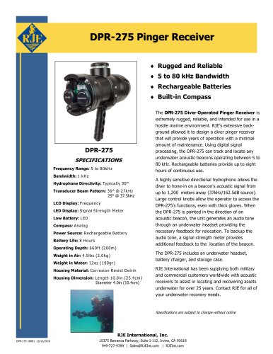 DPR-275 Pinger Receiver