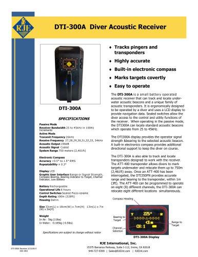 DTI-300A Diver Acoustic Receiver