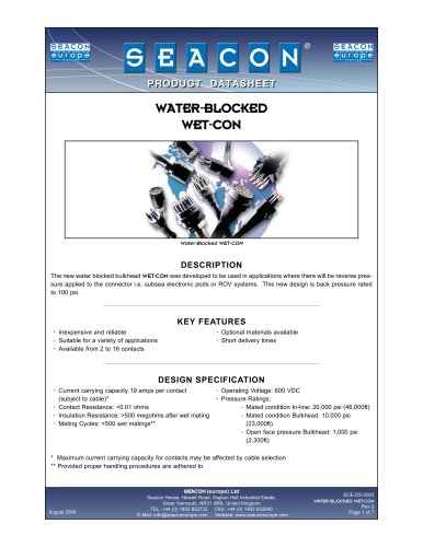 SCE-DS-0003 Water-Blocked WET-CON Rev 2