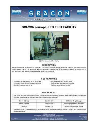SCE-DS-0005 SCE Testing Facilities Rev 2
