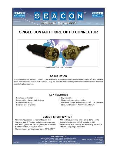 SCE-DS-0011 Single Contact Fibre Optic Rev 1