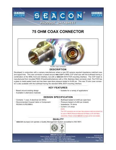 SCE-DS-0013 75 Ohm Coax Connector Rev 5