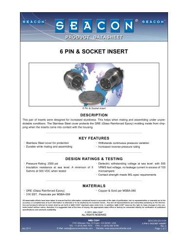 SEACON-DS-0104 6 Pin & Socket Insert Rev 2