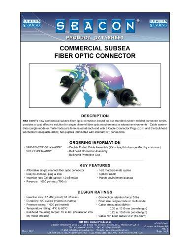 SGP-DS-0001 Commercial Subsea FO Connector  Rev 3