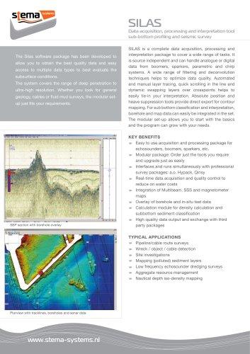 SILAS: Data acquisition, processing and interpretation tool sub-bottom profiling and seismic survey