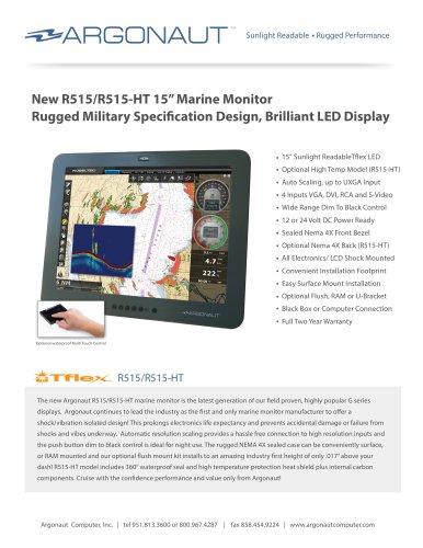 """R515/R515-HT 15"""" Marine Monitor"""
