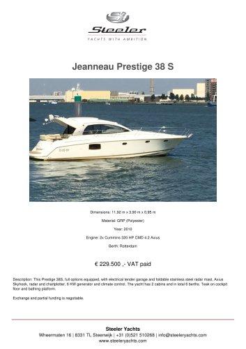 JEANNEAU PRESTIGE 38 S