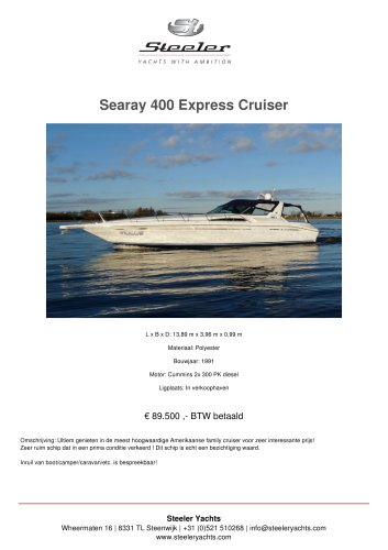 SEARAY 400 EXPRESS CRUISER