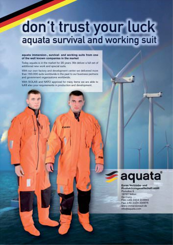 Immersion and rescue suits