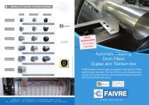 Automatic Cleaning Drum Filters Duplex and Titanium line