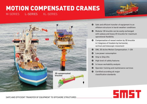 Motion Compensated Cranes