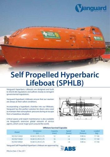 Hyperbaric Lifeboats (SPHLB)