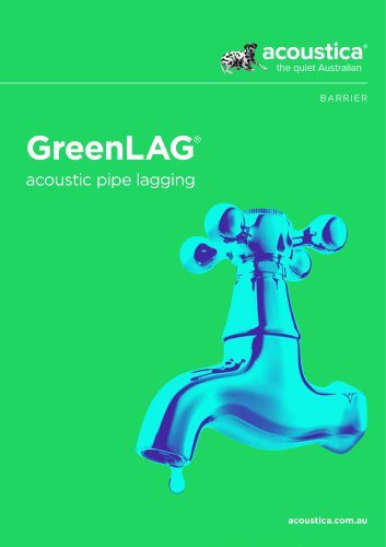 GreenLAG® acoustic pipe lagging