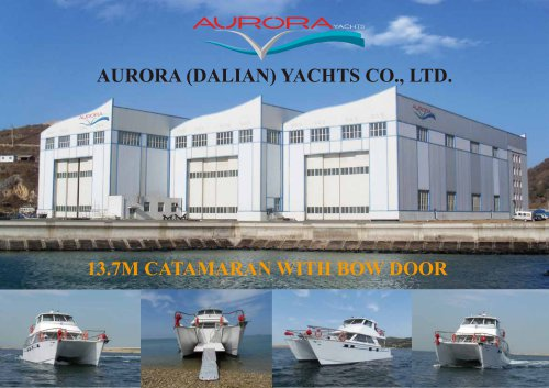 13.7M CATAMARAN WITH BOW DOOR