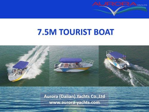 7.5m Tourist Boat