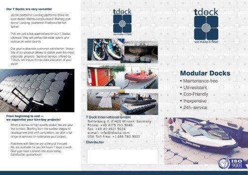 T Dock Brochure English