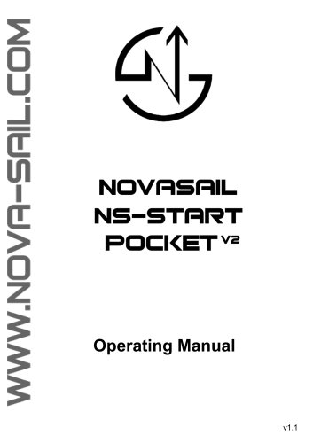 NS-START pocket V2 operating manual