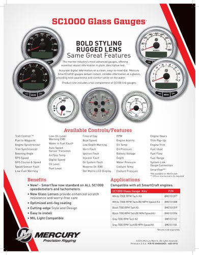 SC1000 Glass Gauges*