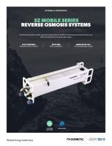 Mobile Series II (SpotZero)  Freshwater Purification Reverse Osmosis