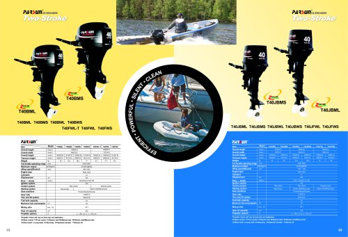 PARSUN 2-stroke outboard motor 20-40hp