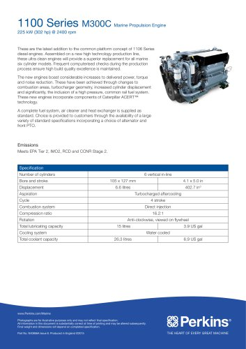M300C Marine Specification Sheet