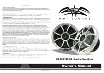 XS-650 / XS-65 Marine Speakers - 1
