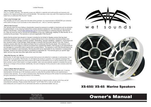 XS-650 / XS-65 Marine Speakers