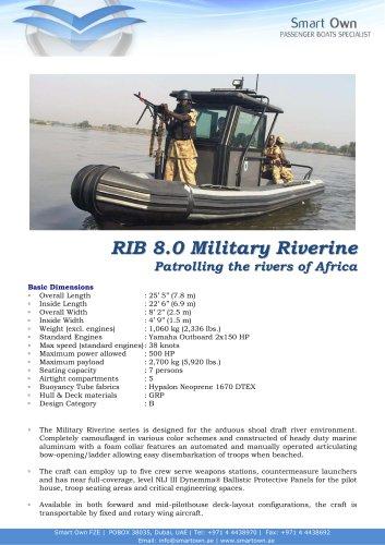 RIB 8.0 MILITARY RIVERINE