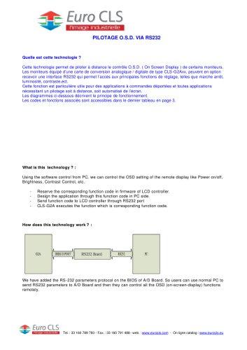 Pilotage de l'O.S.D. via RS232