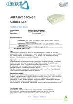 Abrasive sponge double-side TSAR - 1