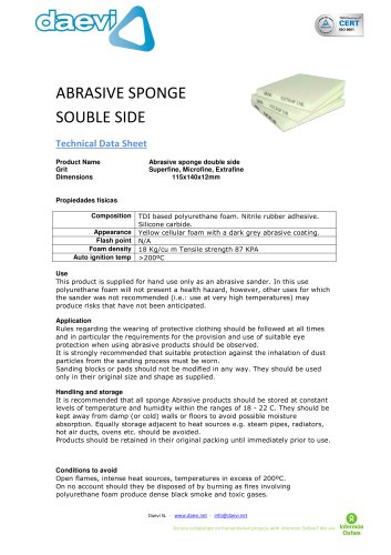 Abrasive sponge double-side TSAR