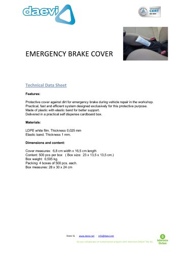 Emergency Brake Cover