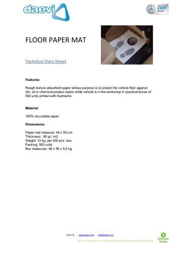 Floor paper mat