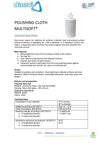 Multisoft polish cloth