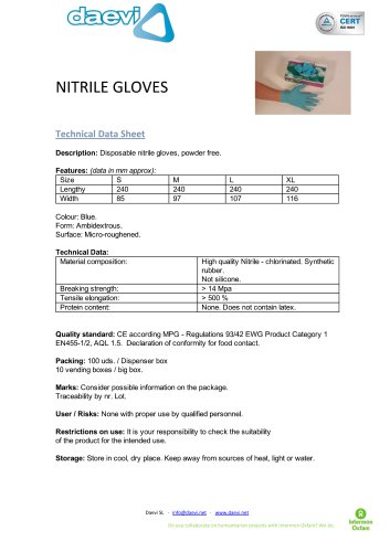 Nitrile Gloves ( powder free )