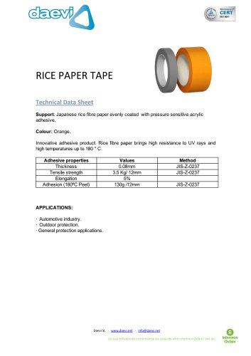 Rice paper tape ( Washi tape )